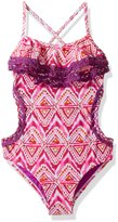 Vigoss Big Girls' Sofie One Piece Double Ruffle Swimuit