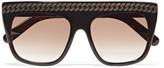 Stella McCartney Square-frame embossed acetate sunglasses