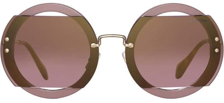 4b0de6a03fc9 Miu Miu Glitter Sunglasses - ShopStyle UK
