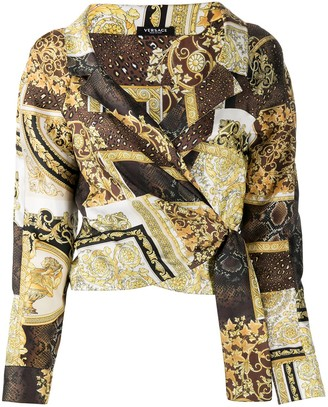 Versace Printed Cropped Shirt