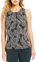 Kasper Petite Abstract Leaf-Print Cami