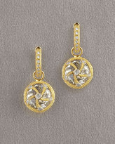 JudeFrances Jewelry White Topaz Earring Charms