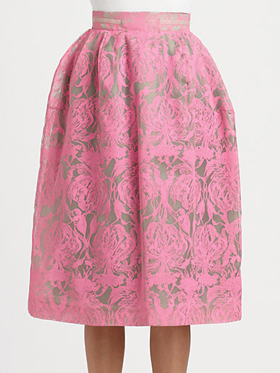 HONOR Orchid Print Skirt