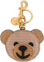 Moschino teddy bear key ring - women - Leather/metal - One Size
