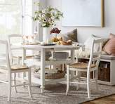 Pottery Barn Shayne Drop-Leaf Kitchen Table, White
