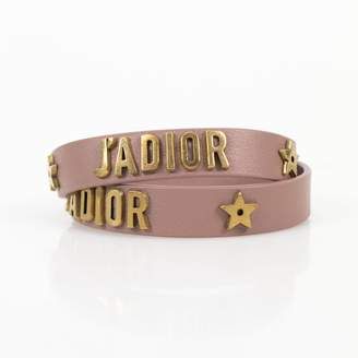 Christian Dior J'adior Pink Leather Bracelets