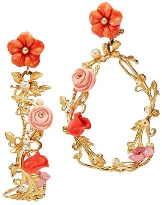 OF RARE ORIGIN Flower Whirl Hoop Earrings