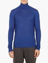 Haider Ackermann Blue Turtleneck Long-Sleeved T-Shirt