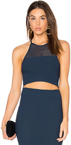 BCBGeneration Mesh Crop Tank in Navy. - size M-L (also in XS-S)