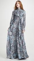 Jonathan Simkhai Metallic Wrap Gown