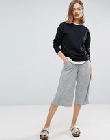 NATIVE YOUTH Elasticated Waist Rib Culottes