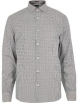 River Island MensGrey stripe long sleeve shirt