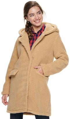 Steve Madden Nyc Juniors' NYC Juniors' Long Teddy Coat