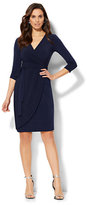 New York & Co. Belted Wrap Dress - Tall