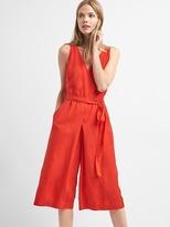 Sleeveless TENCEL culotte jumpsuit