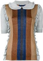 Marco De Vincenzo lurex ruffle jumper - women - Polyamide/Polyester/Acetate - 40