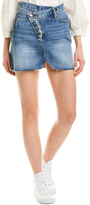 Frame Exposed Overlap Mini Skirt