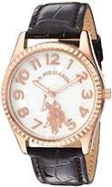 U.S. Polo Assn. Women's Quartz Metal Casual Watch, Color:Brown (Model: USC42026AZ)