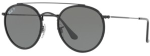 Ray-Ban Polarized Sunglasses, RB3647N Round Double Bridge