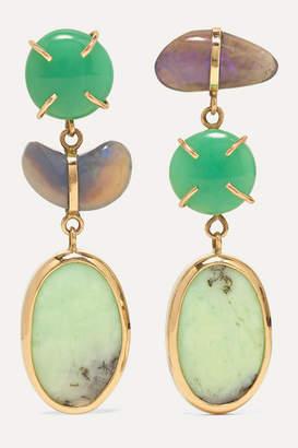 Melissa Joy Manning 14-karat Gold, Chrysoprase And Opal Earrings
