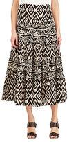 Lauren Ralph Lauren Geometric Cotton Maxi Skirt