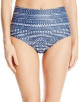 Mara Hoffman Women's High Waisted Ruched Back Bikini Bottom