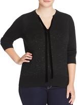 MICHAEL Michael Kors Tie Neck Sequin Sweater