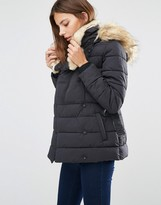 Warehouse Short Luxe Padded Parka