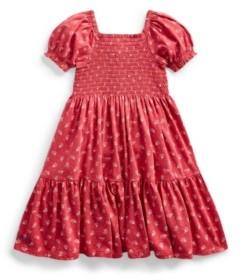 Polo Ralph Lauren Toddler Girls Floral Smocked Dress