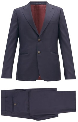 Gucci London Single-breasted Wool-blend Suit - Navy
