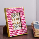 Graham and Green Bone Frame In Pink Print