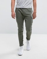 Pull&bear Relaxed Cargo Trousers In Khaki
