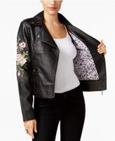 Joujou Jou Jou Juniors' Embroidered Faux-Leather Jacket