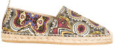 Etro embroidered espadrilles - men - Cotton/Jute/Leather/rubber - 40
