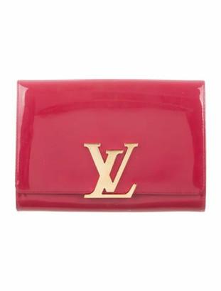 Louis Vuitton Vernis Louise Clutch Rose