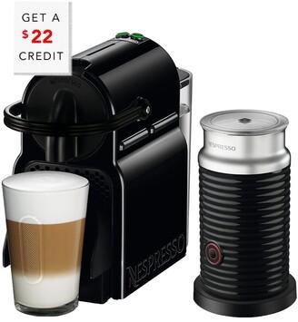 De'Longhi Nespresso Inissia Single-Serve Espresso Machine And Aeroccino Milk Frother In Black