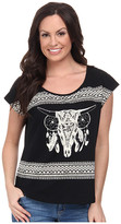 Rock and Roll Cowgirl Short Sleeve Boxy Tee 47-3388