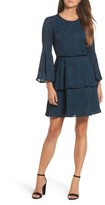 Vince Camuto Women's Tiered Chiffon Fit & Flare Dress