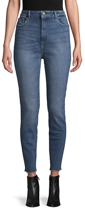 DL1961 Chrissy Ultra High-Rise Crop Jeans