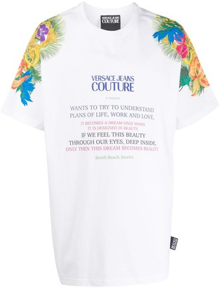 Versace logo print short-sleeve T-shirt
