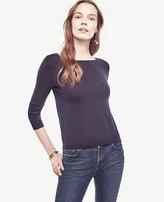 Ann Taylor Petite Extrafine Merino Wool Boatneck Sweater