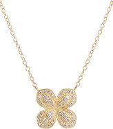 Jamie Wolf Scalloped Pave Diamond Flower Necklace