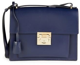 Salvatore Ferragamo Marisol Omufasa Leather Shoulder Bag