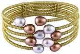 Bella Pearl White, Gray & Brown Cultured Pearl Five-Row Cuff