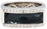 Stephen Webster 18K White Gold Hematite & Diamond Ring