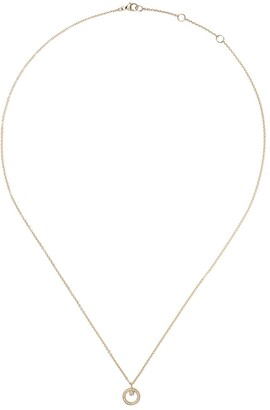 Georg Jensen 18kt yellow gold Halo brilliant cut diamond pendant necklace
