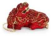 Judith Leiber Foo Dog Jeweled Minaudiere