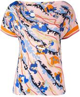 Emilio Pucci short-sleeve printed blouse