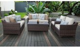 Kathy Ireland Homes & Gardens By Tk Classics River Brook 7 Piece Wicker Sofa Seating Group with Cushions Homes & Gardens by TK Classics