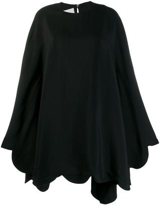 Valentino puffball hem short dress